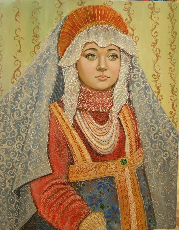 Барышня. Портрет дочери