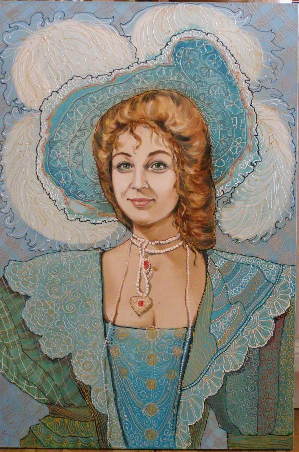 Светлана Мищенко-Сапсай. Чудо в перьях. Автопортрет